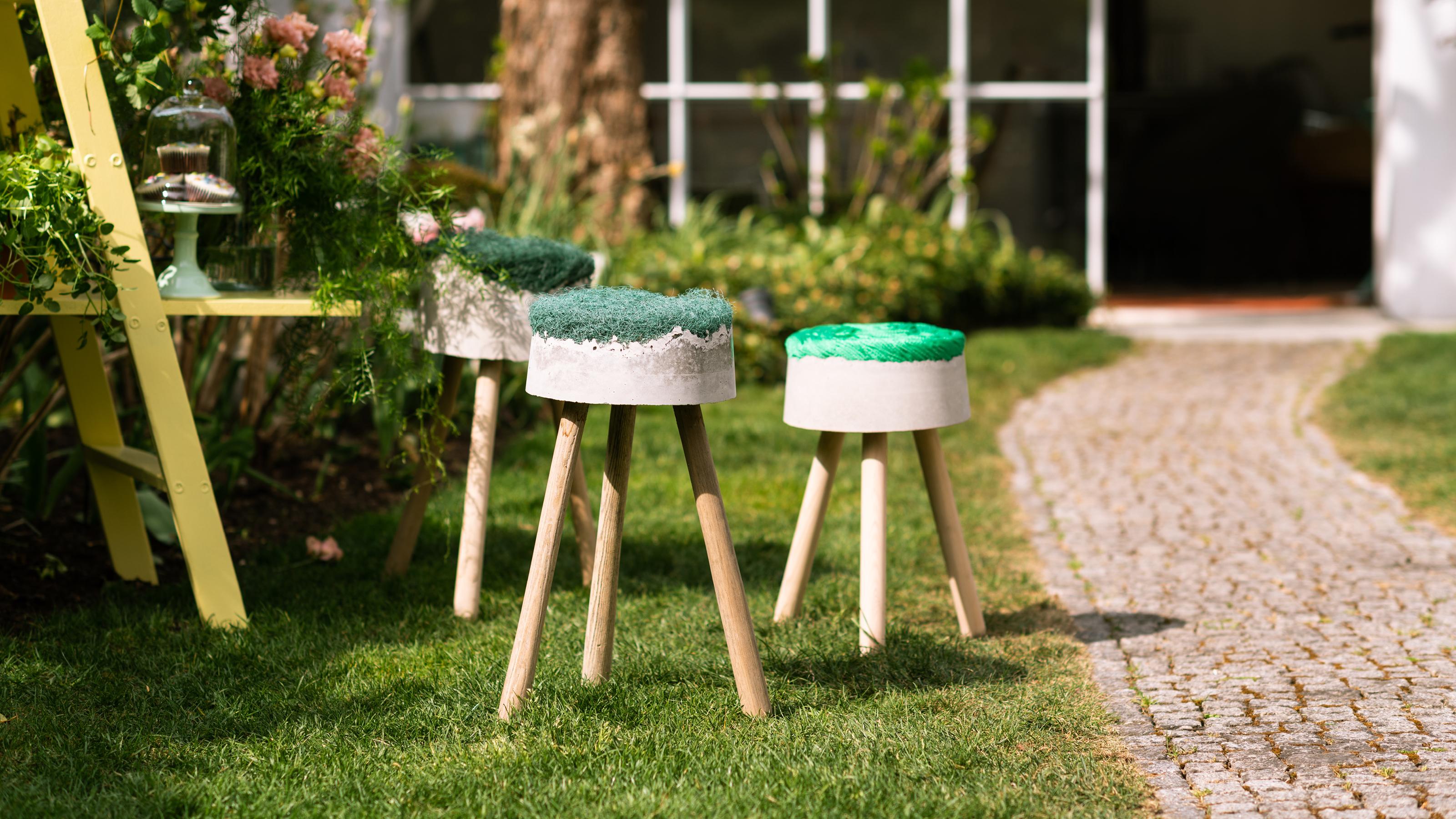 Betonhocker Selber Bauen Upcycling Mit Fischernetz Bosch Diy