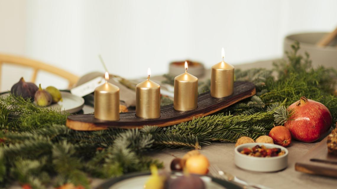 Adventskranz Aus Holz Selber Machen Schlicht Und Einfach