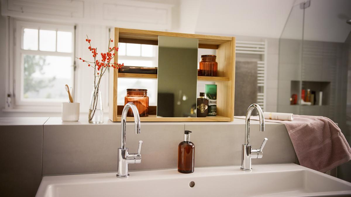 Zum Stylen und Verstauen Spiegelschrank selber bauen   Bosch DIY