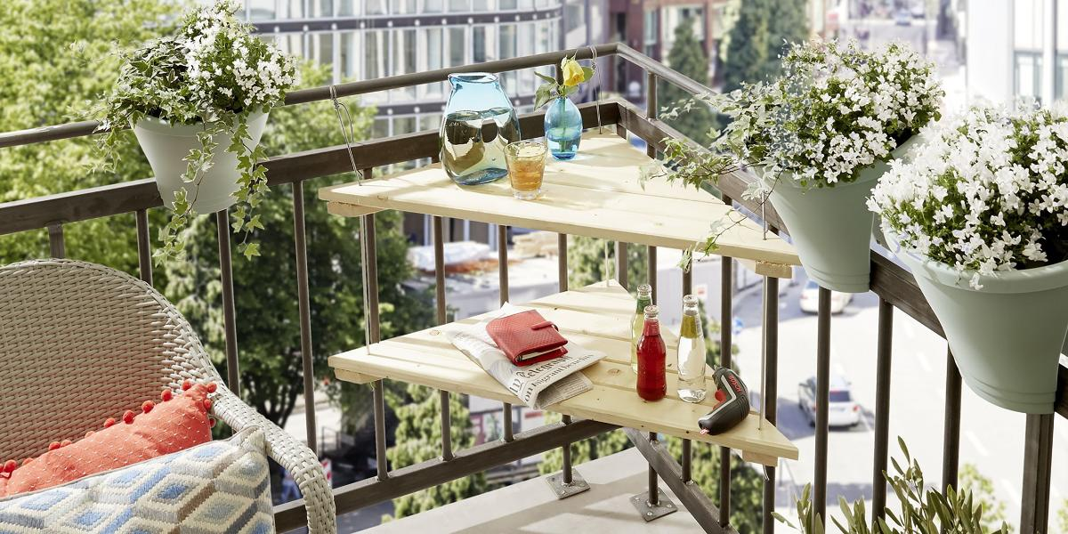 interior decoration wood table ideas with artificial.htm build your own balcony table     in just one hour bosch diy  build your own balcony table     in just