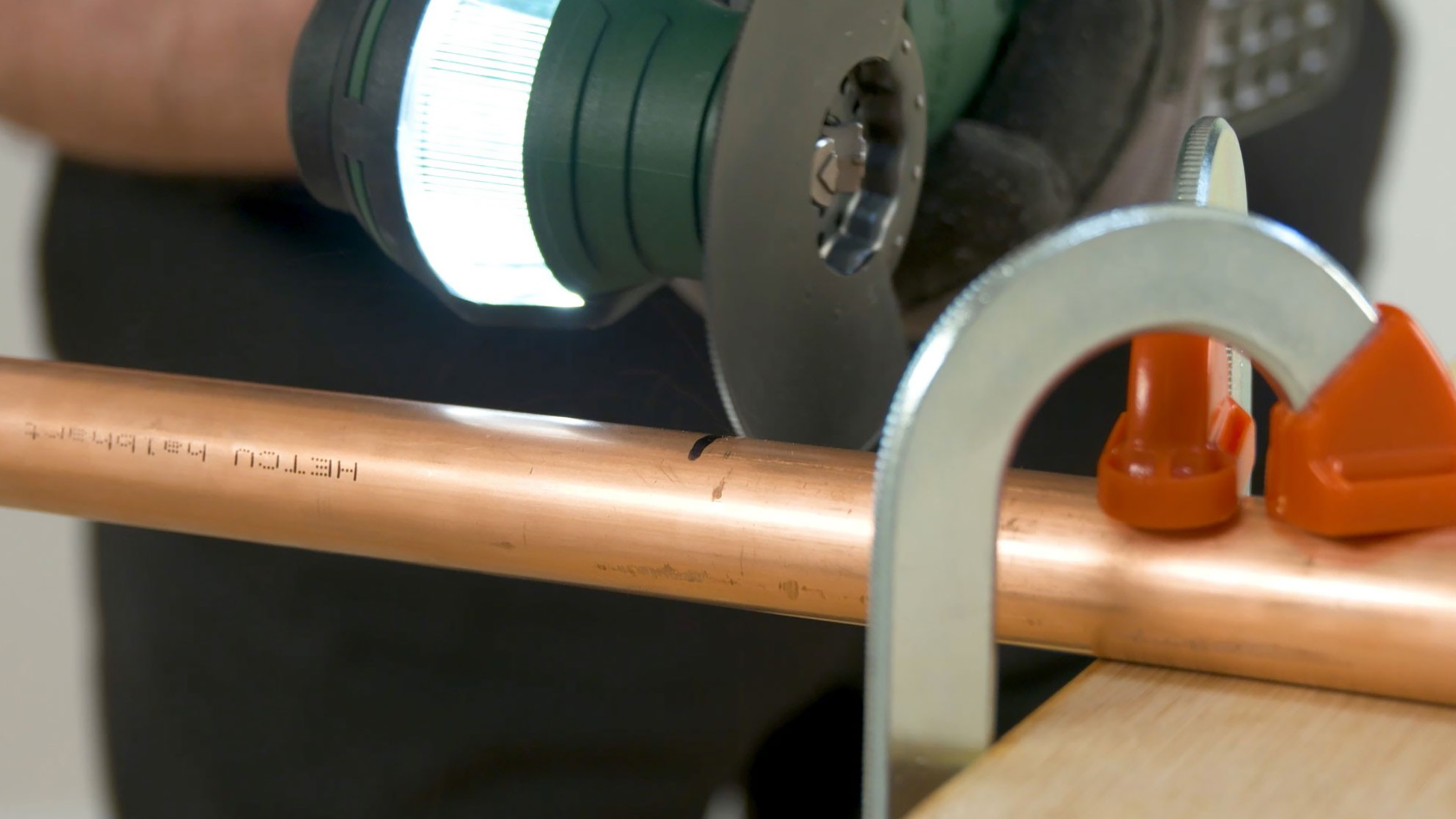 Cutting the Copper Pipe Using A Multi-Functional Tool