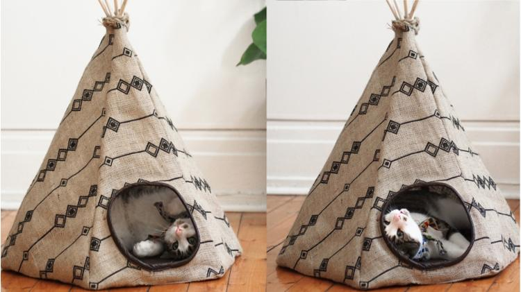 Sewing cats tipi yourself -
