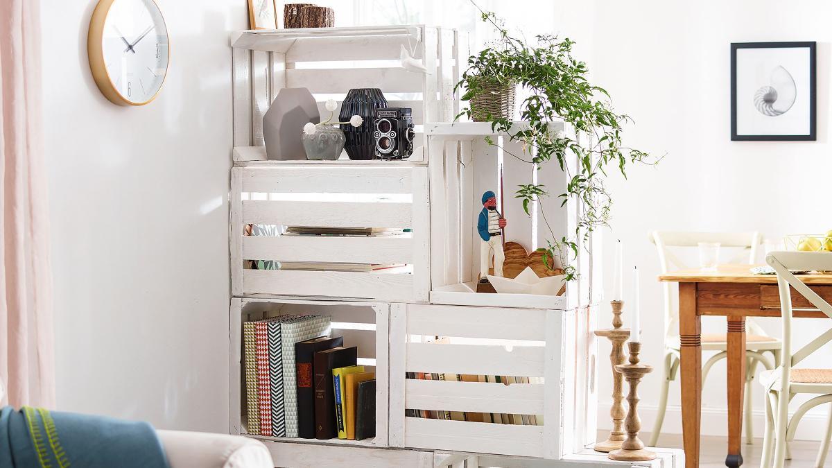 Werde zum Möbeldesigner: mit dem Obstkisten-Regal  Bosch DIY