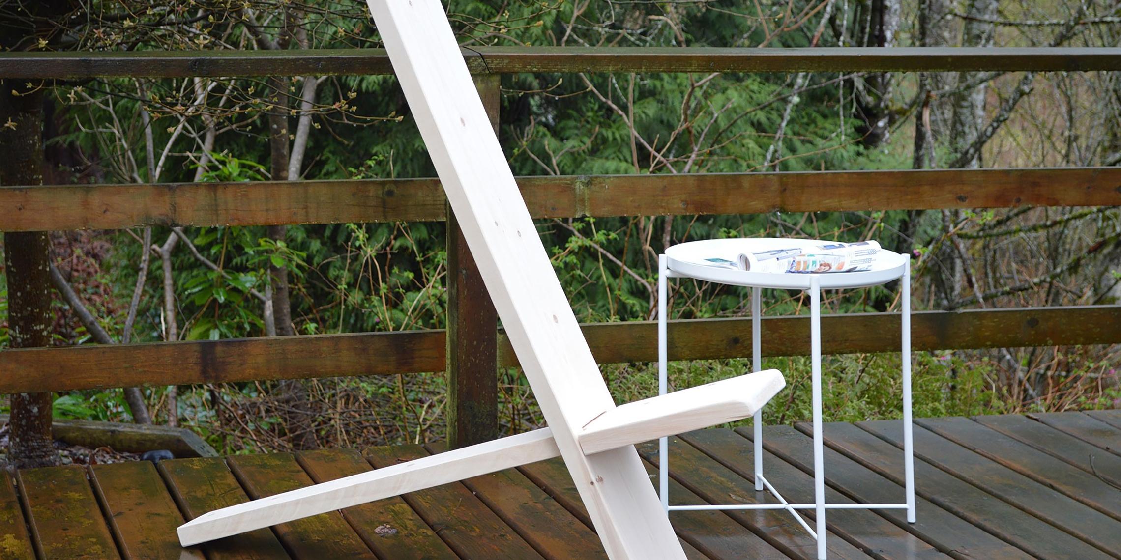 Unschlagbar Einfach Und Gunstig Bau Dir Einen Stylischen Stuhl Fur Deine Terrasse Bosch Diy