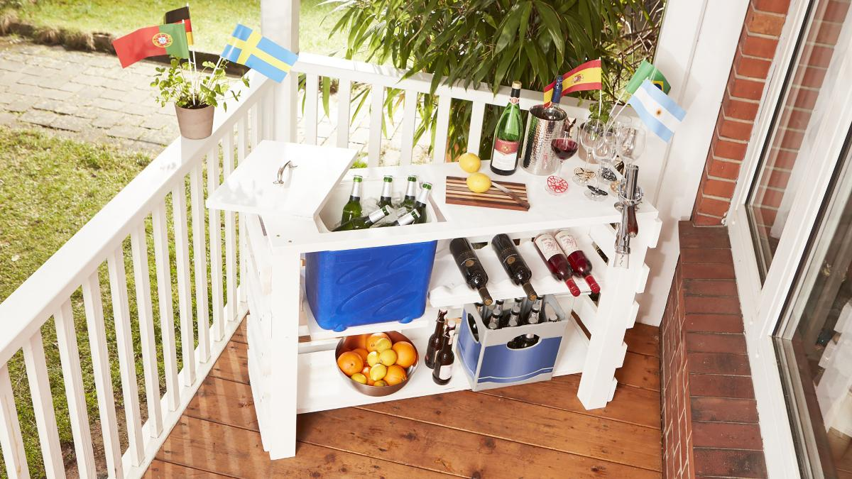 Combien De Palette Pour Faire Une Terrasse idéal pour les chaudes soirées d'été : un bar d'extérieur en