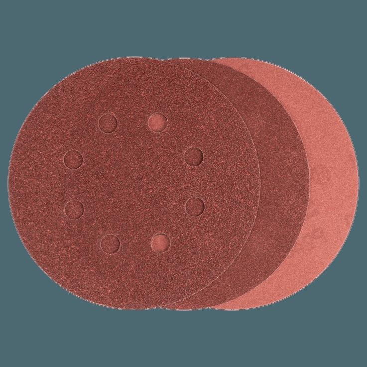 Комплект листове шкурка 125 mm, 25 части, смесен
