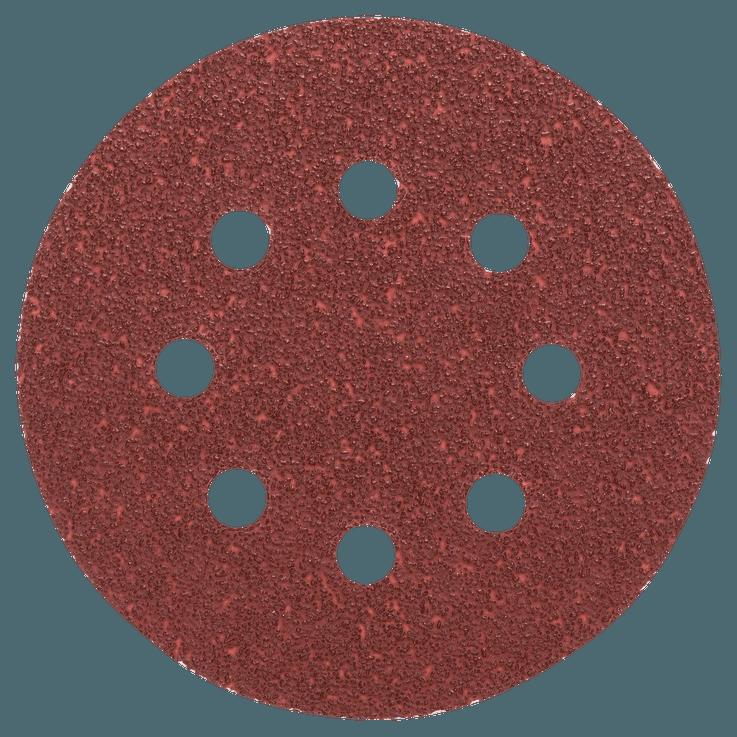 Комплект листове шкурка 125 mm, 5 части