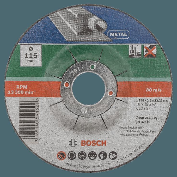 Комплект отрезни дискове за метал с вдлъбнат център от 5 части