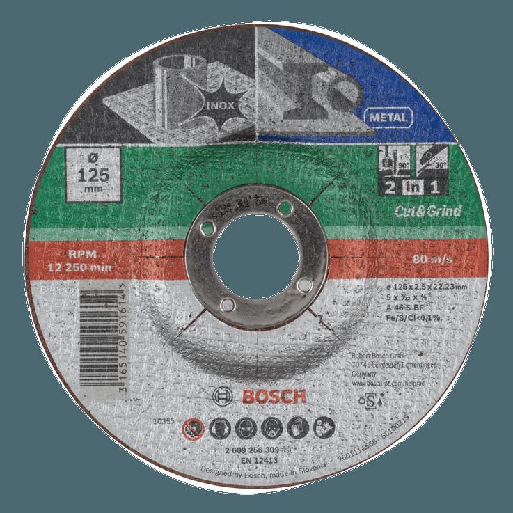 Отрезен и шлифовъчен диск за метал и инокс 2 в 1