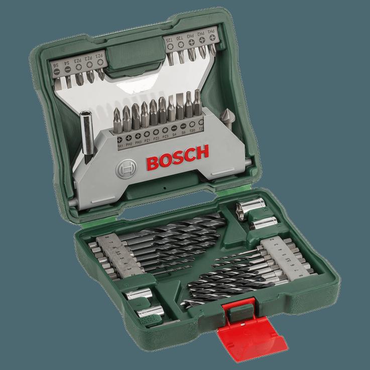 Klassisk X-Line-bor- og skruetrækker bitsæt med 43 dele til sekskantet holder