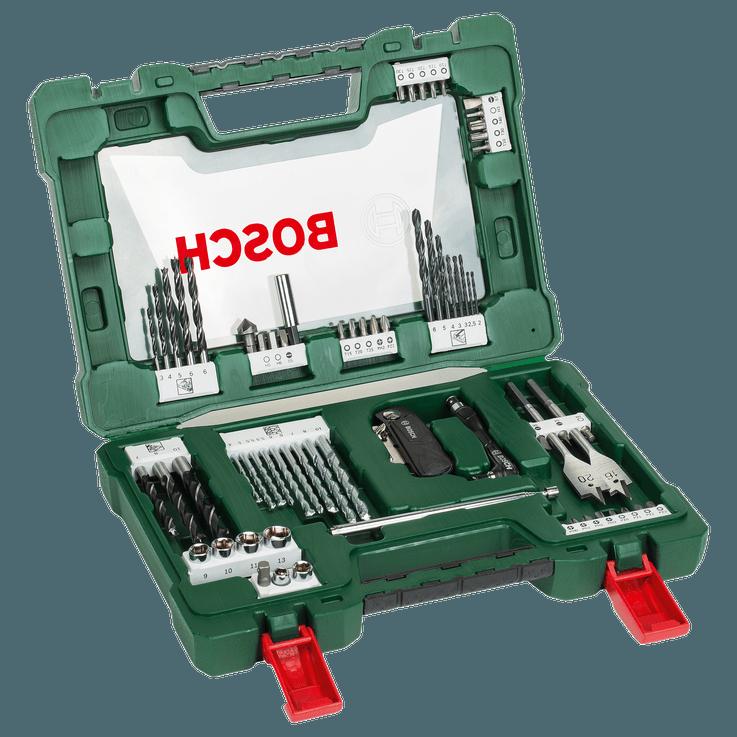 Classic V-Line Bohrer‑ und Schrauberbit-Set, 68-teilig mit Klappmesser, Magnetstab und Winkelschrauber