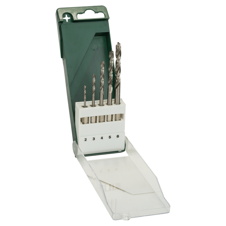 Holzbohrer-Set mit Sechskantschaft, 5-teilig