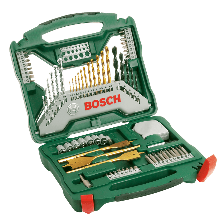 X-Line Bohrer‑ und Schrauberbit-Set Titan, 70-teilig