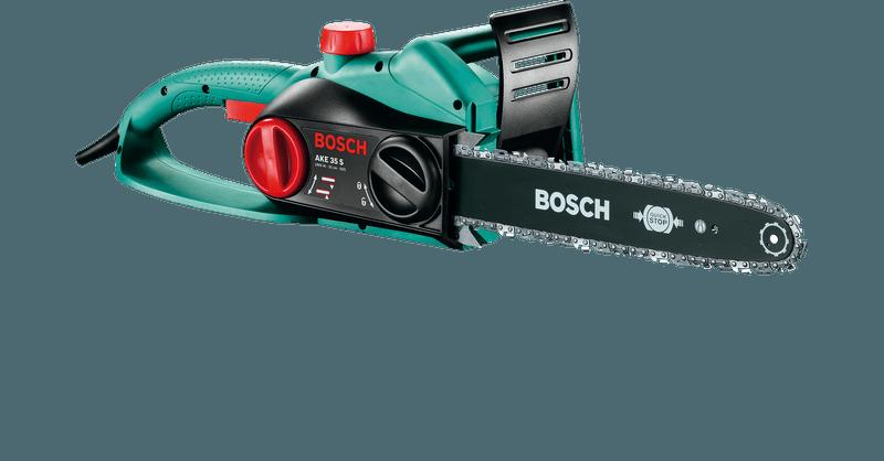 2 Ketten Säge 1800 Watt Bosch Kettensäge Elektro AKE 35 S inkl