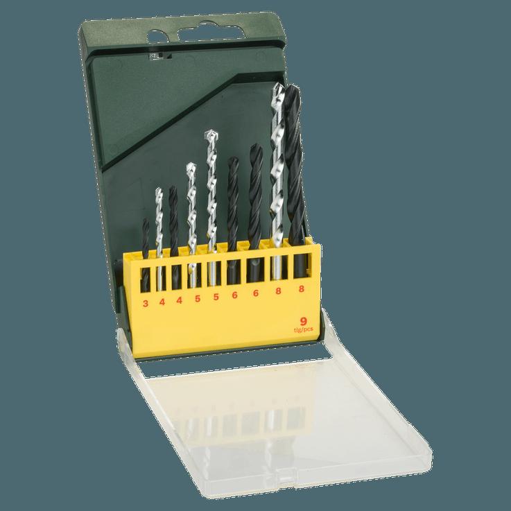 9-teiliges Metall- und Mauerwerkbohrer-Set