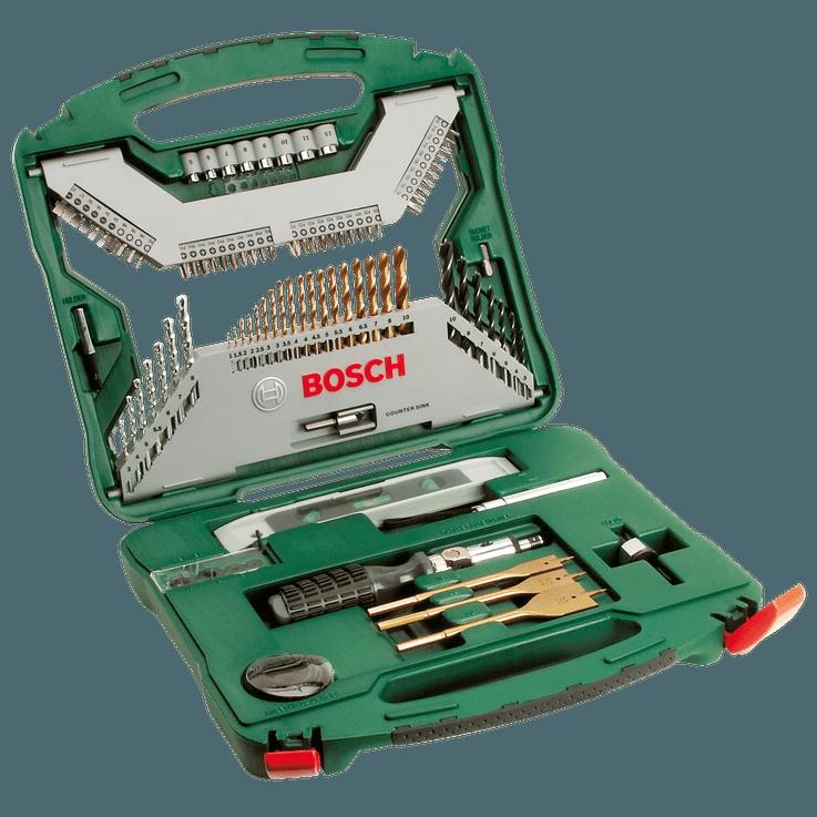X-Line Bohrer‑ und Schrauberbit-Set Titan, 100-teilig