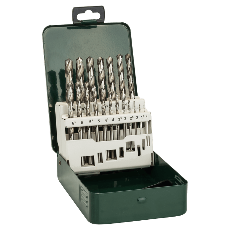 Μεταλλικό τρυπάνι HSS-G, DIN 338, σετ 19 τεμαχίων