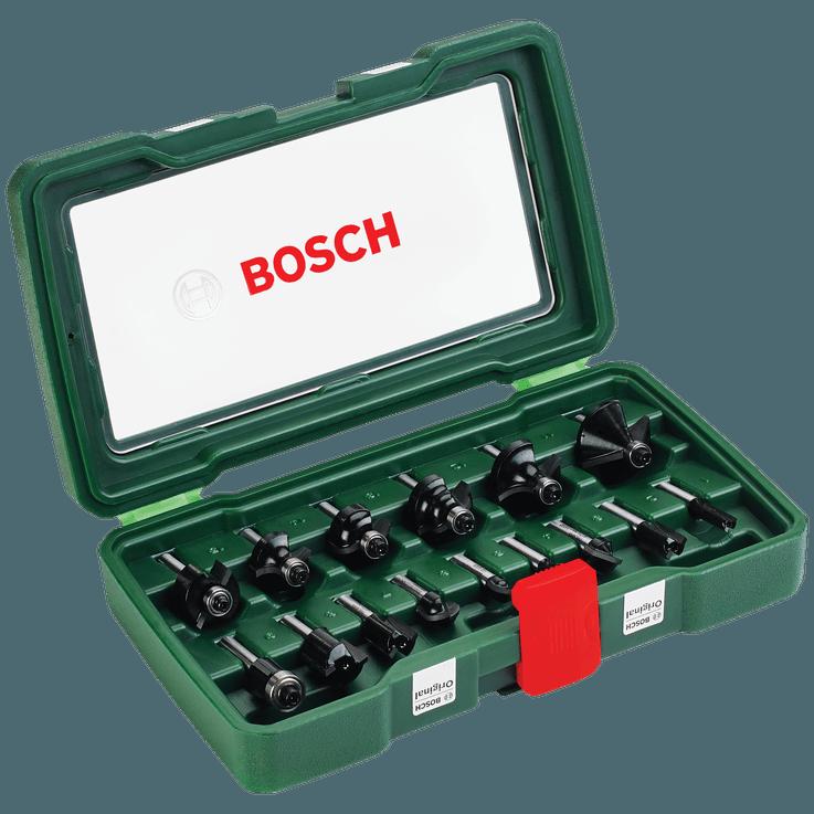 Tungsten-carbide Router Bit Set 15 Pieces