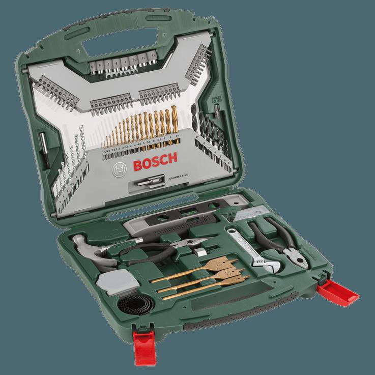 X-Line Drill- and Screwdriver Bit Set Titanium 103 pieces