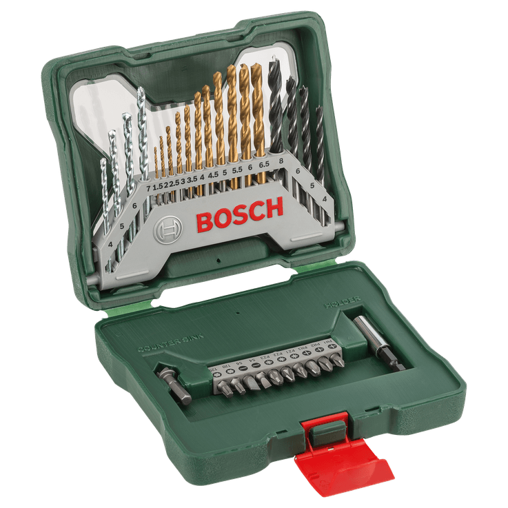X-Line Drill- and Screwdriver Bit Set Titanium 30 pieces