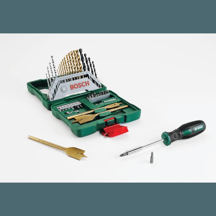 X-Line Drill- and Screwdriver Bit Set Titanium 40 pieces