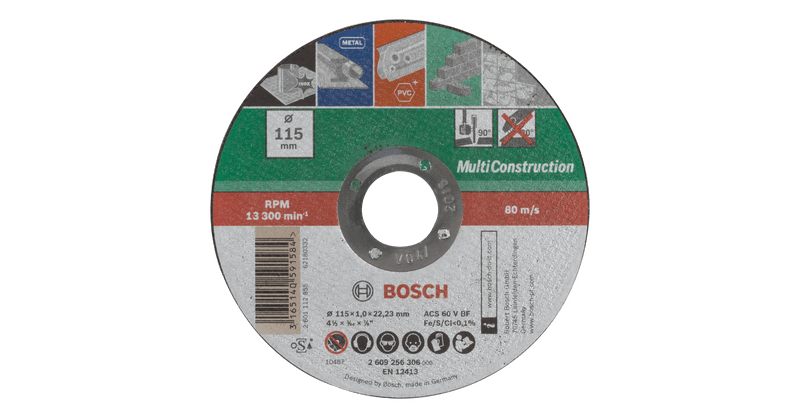 Cutting Disc For Multiconstruction Straight