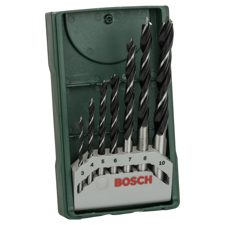 Mini-X-Line Wood Drill Bit Set 7 Pieces