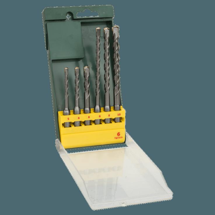 SDS plus Hammer Drill Bit Set 6 Pieces