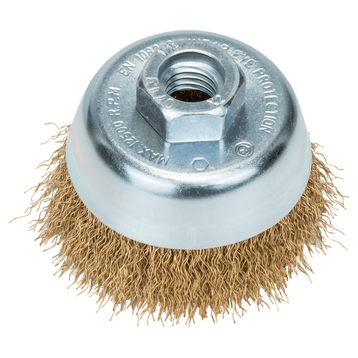 Cepillo de vaso con alambre ondulado de acero inoxidable