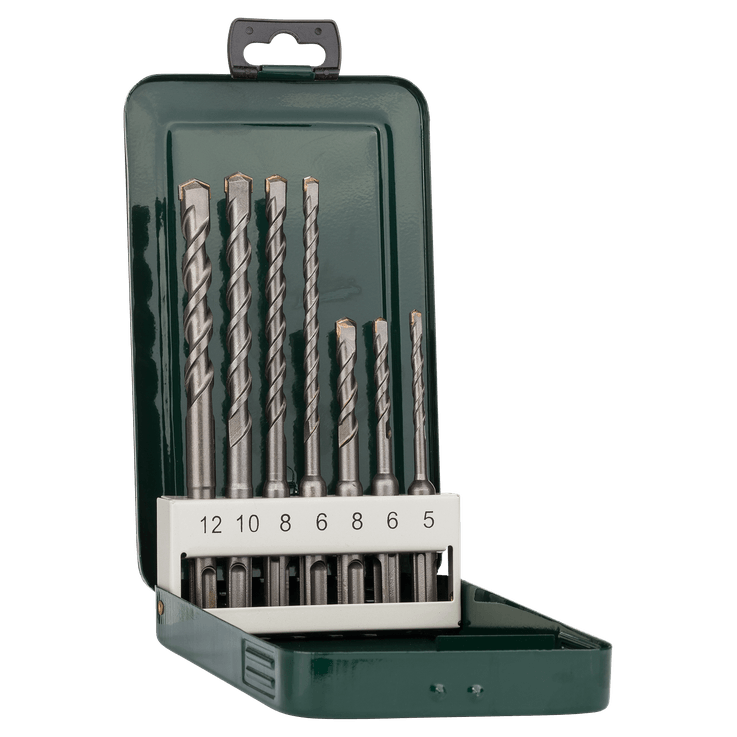 Set de brocas para martillo SDS plus de 7 piezas