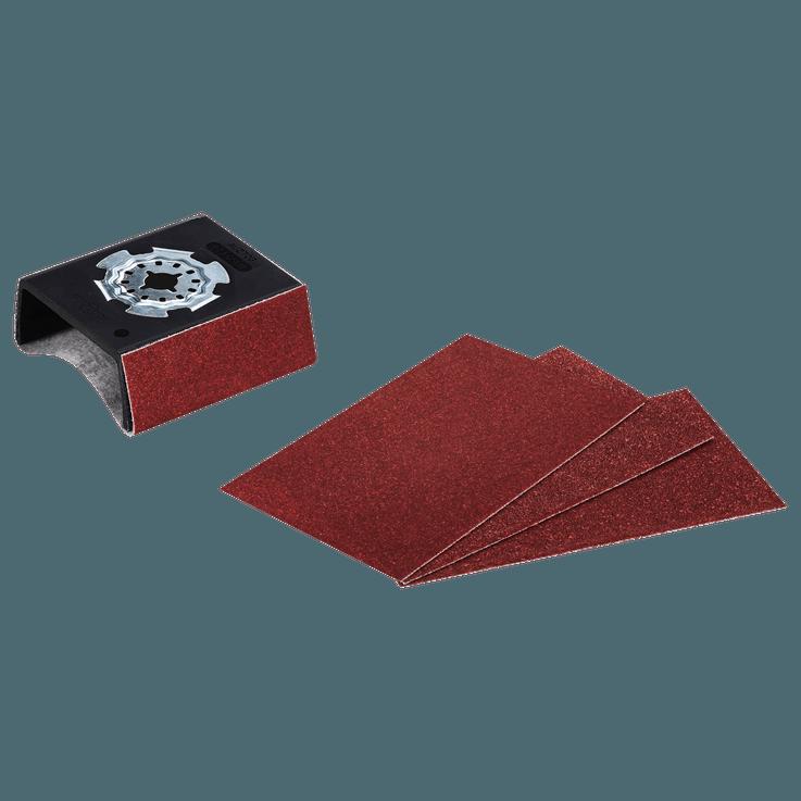 Starlock AUZ 70 G -profiilihiomatarvike ja 4 hiomapaperia