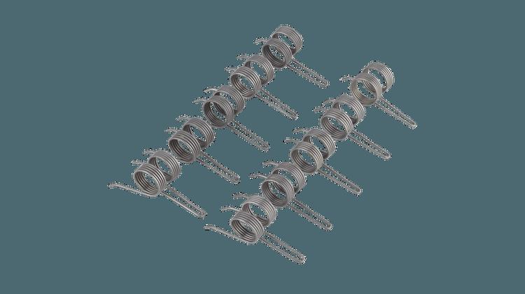 Griffes en acier à ressort