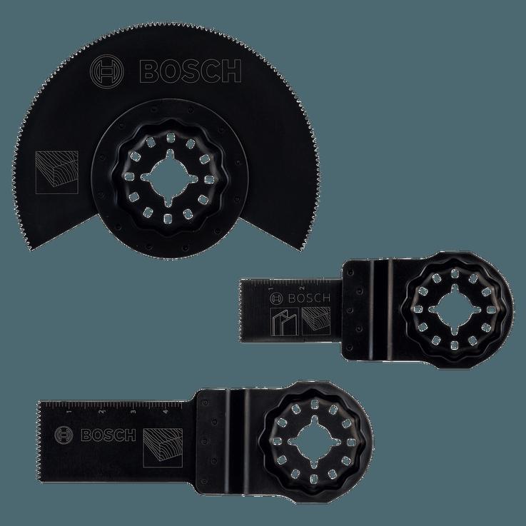 Kit de démarrage Starlock «Bois» pour outils multifonctions, 3pièces