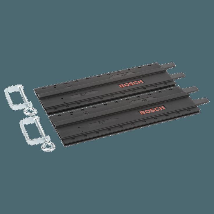 Rail de guidage en plastique, 2pièces avec pinces-étaux