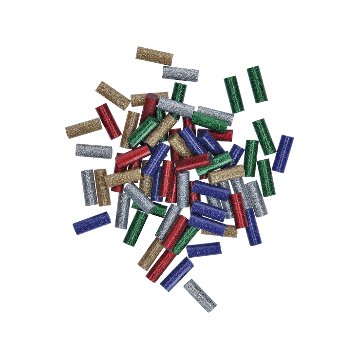 Bâtons de colle, mélange de couleurs à paillettes