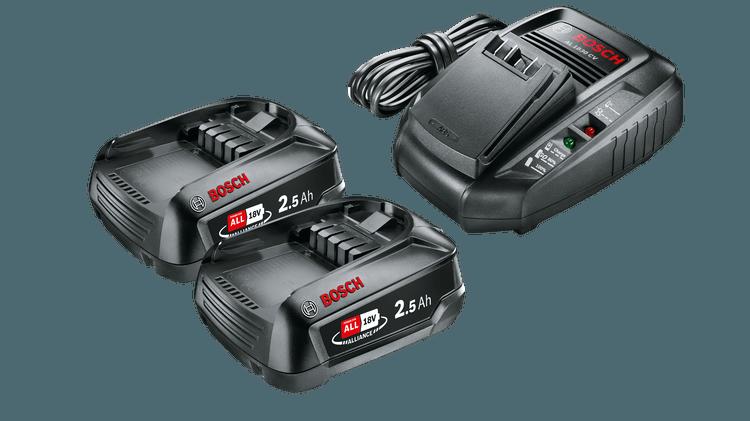 Stareter Set 18 V (2 batteries 2,5 Ah + AL 1830 CV)