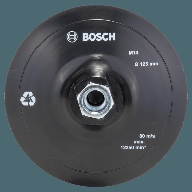 Sarokcsiszolókhoz való gumi csiszolótalp, tépőzáras rögzítőrendszer, 125 mm
