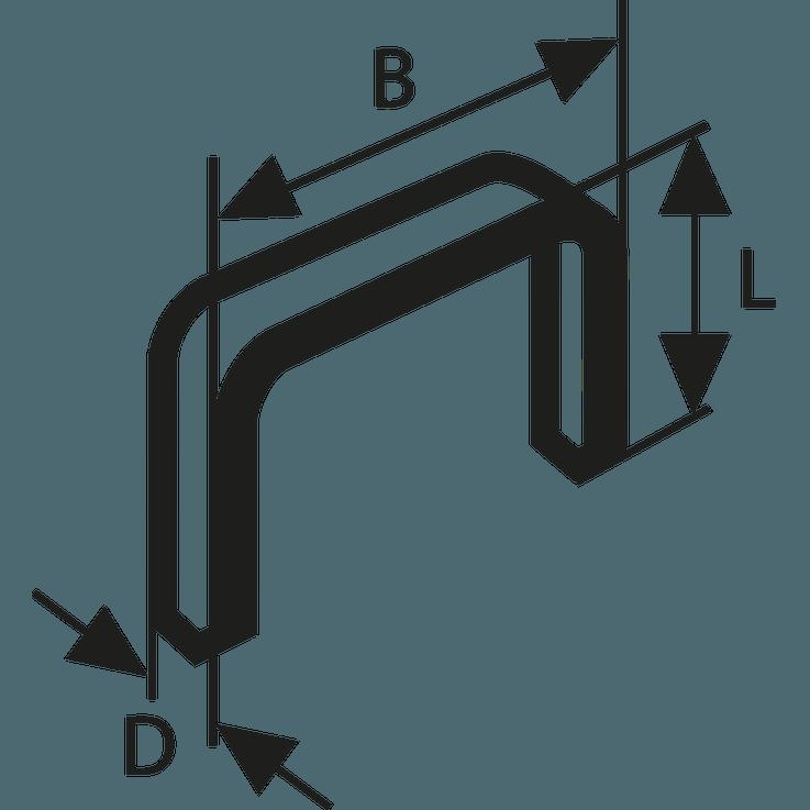 Graffa a filo fine tipo 53