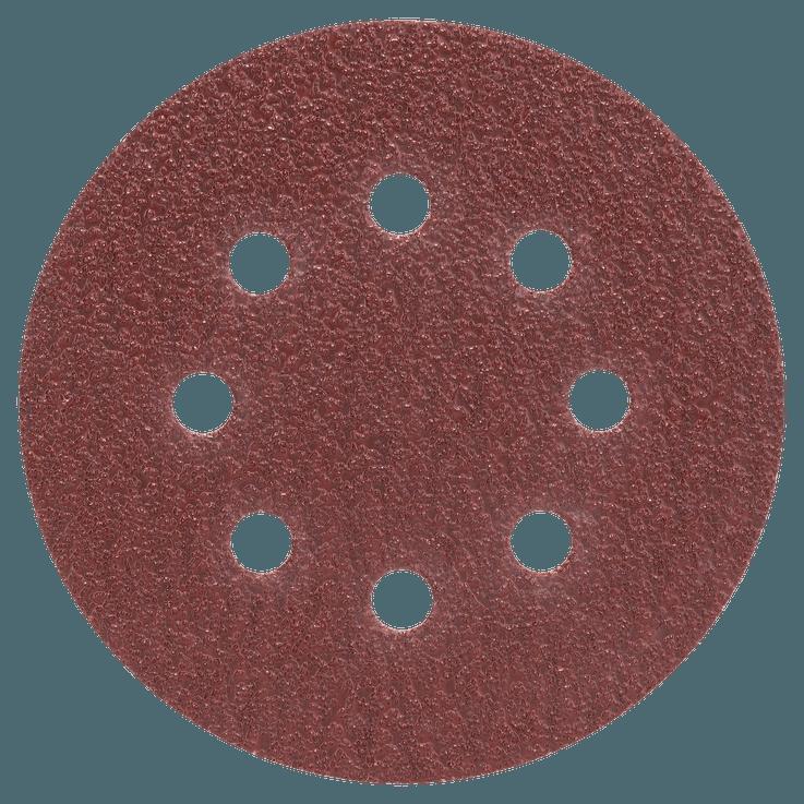 Set di fogli abrasivi 125 mm da 25 pezzi