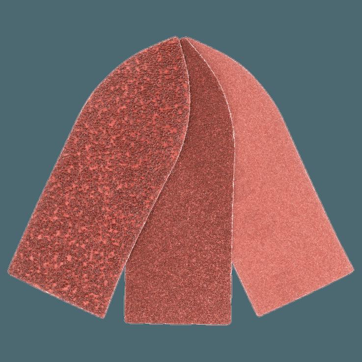 Set di fogli abrasivi 32 mm più adattatore da 6 pezzi misti