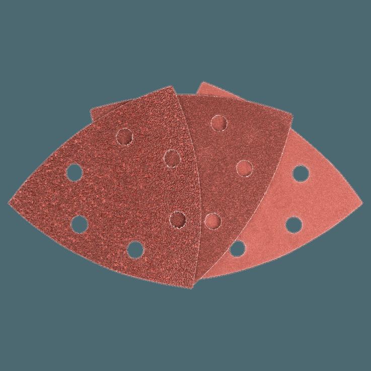 Set di fogli abrasivi 93 mm da 25 pezzi misti