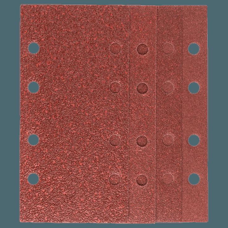 Set di fogli abrasivi 93 x 230 mm da 25 pezzi misti