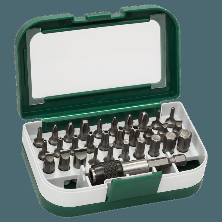 Blandingssett med skrutrekkerbits standard, 31 deler (S, PH, PZ, T, HEX)