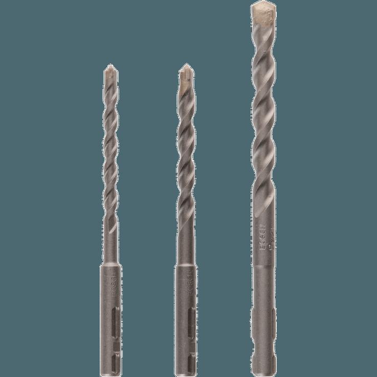 SDS quick-betongborsett, 3 deler