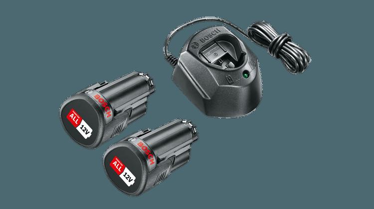 Zestaw startowy 12 V (2 akumulatory 1,5 Ah i GAL 1210 CV)