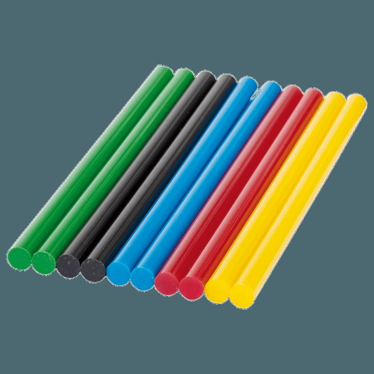 Bastões de cola coloridos, 7mm