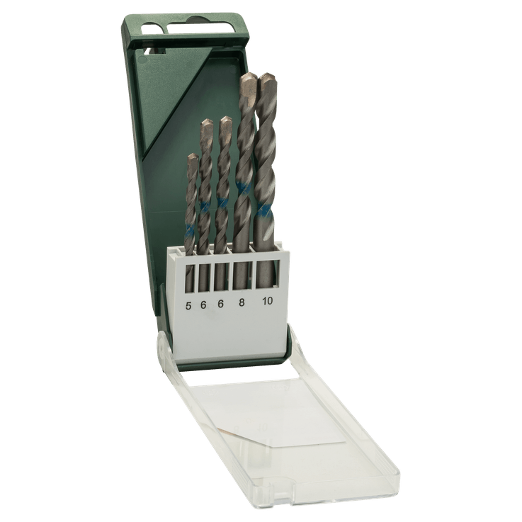 Broca para betão fabricada segundo a norma ISO 5468, 5 peças