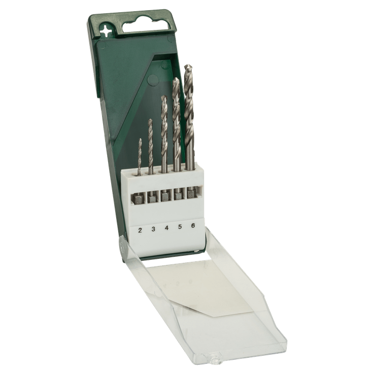 Conjunto de brocas para metal em HSS-G, 5 peças, encabadouro sextavado