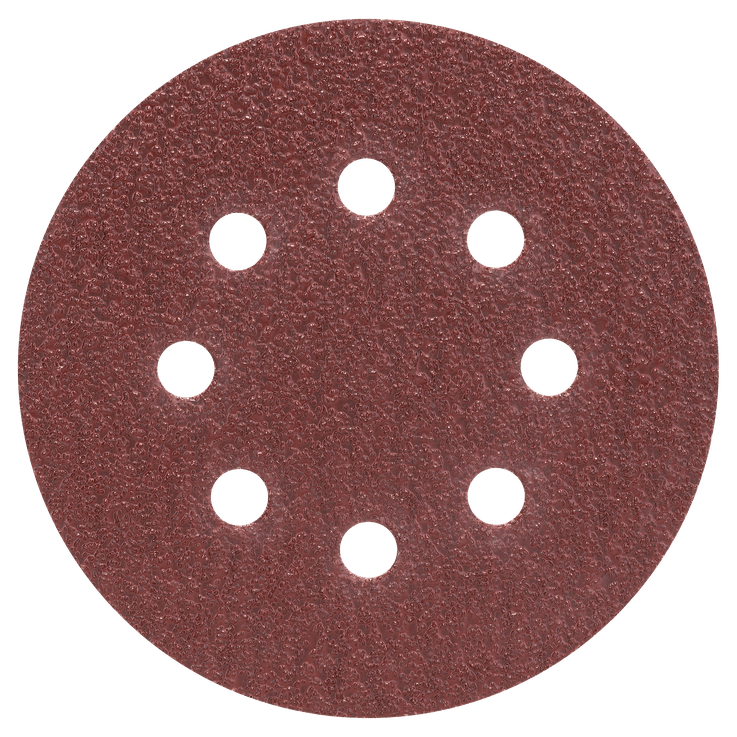 Conjunto de folhas de lixa, 125 mm, 25 peças