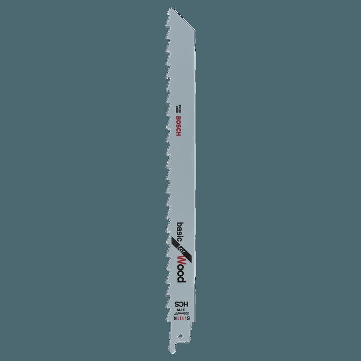 Биметаллическая сабельная пилка HCS (из высокоуглеродистой стали), S 1111 K